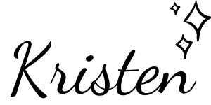 Kristen's signature