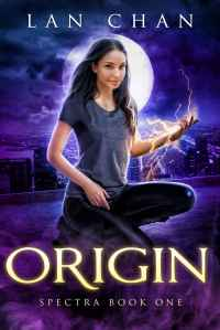 Young adult superhero novel cover showing a girl crouched on a rooftop