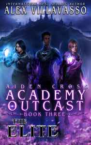 Cover for teen superhero academy novel The Elite