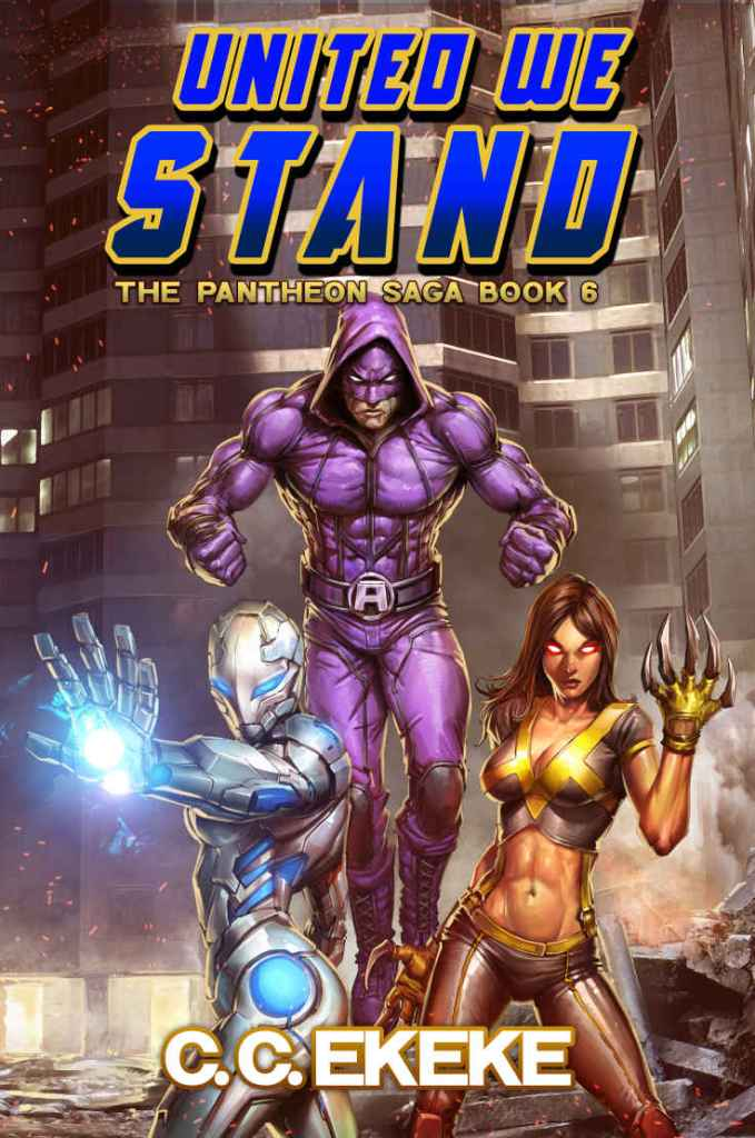 Cover of superhero novel United We Stand