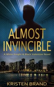 New ebook cover for superhero thriller novel Almost Invincible.