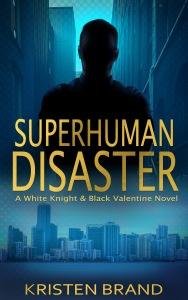 New ebook cover for superhero novel Superhuman Disaster