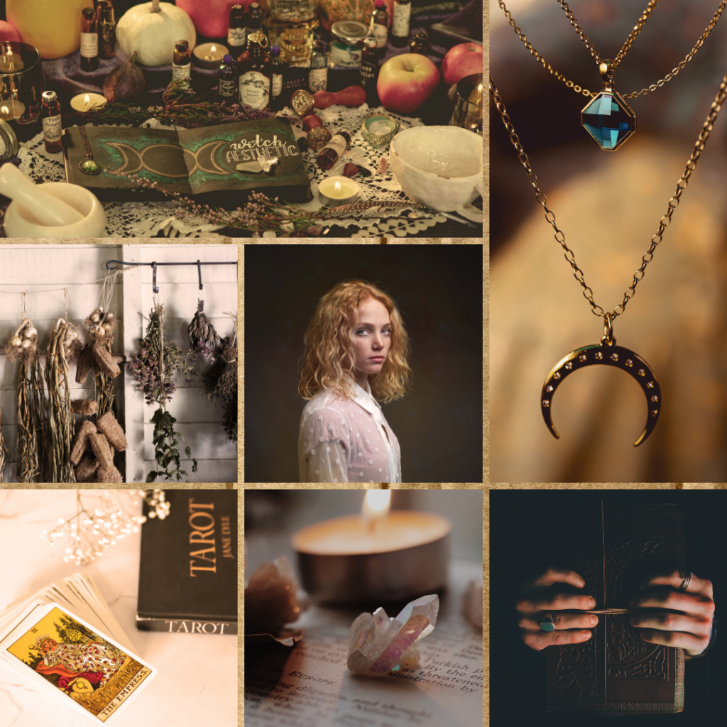 Witchy book aesthetic for the urban fantasy series The Shadow Journals